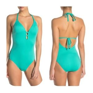 Laundry By Shelli Segal Plunge One Piece Swimsuit